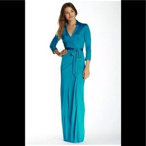 Diane Von Furstenberg Abigail Long Wrap Dress NWT!